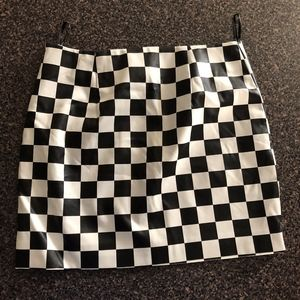 Forever 21 Skirts - Checkered Pleather Skirt - F21